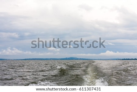 victoria lake with wave from...