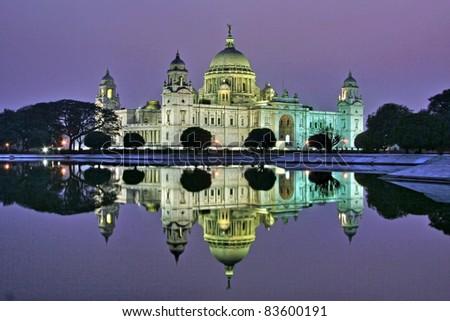 Victoria Memorial in the evening, Kolkata, India