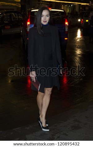Victoria Pendleton arriving for the British Fashion Awards 2012 at the Savoy Hotel, London. 27/11/2012 Picture by: Simon Burchell