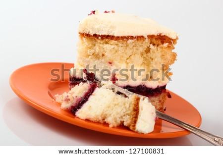 Victoria Sponge Cake - stock photo
