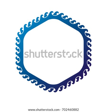 victorian art circular frame with blank copy space created using