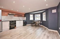 Victorian Conversion Basement Flat Simple Contemporary Kitchen Decor London UK