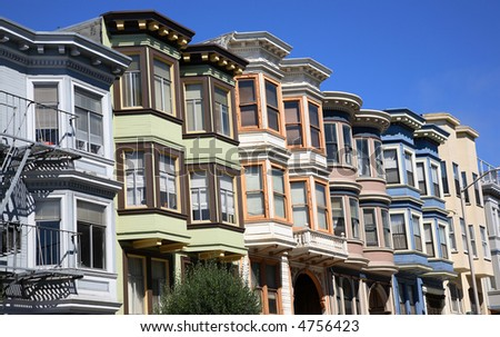 Victorian Homes in San Francisco #4756423