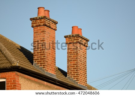 Victorian house chimneys