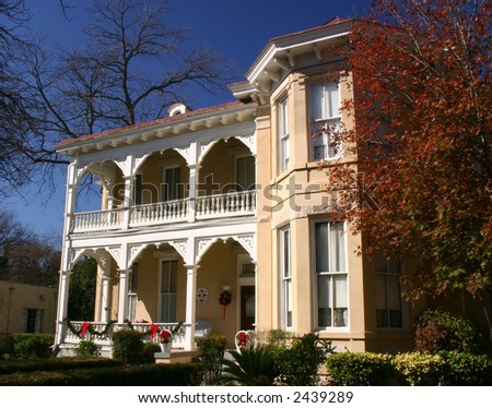 Victorian house in the King William historic district in San Antonio Texas
