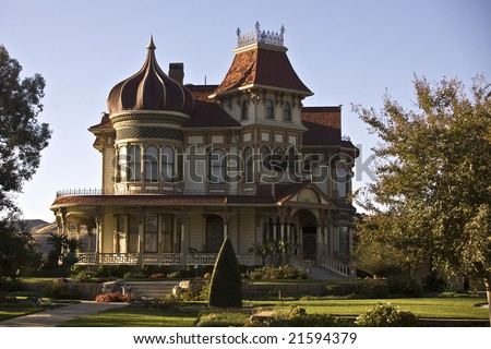 Victorian Mansion in Redlands, California.