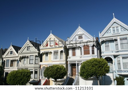 Victorian Row Houses in San Francisco