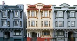 Victorian style street of San Francisco