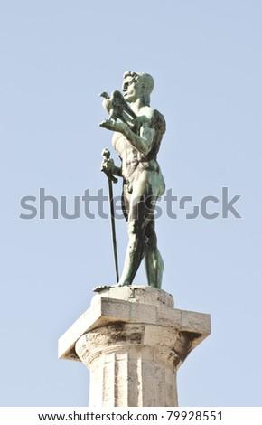 Victory monument - symbol of Belgrade - Serbia