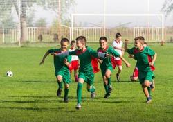 Victory on Kids football match