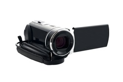video camera isolated on the white background