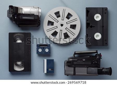 video cameras  vhs and mini...