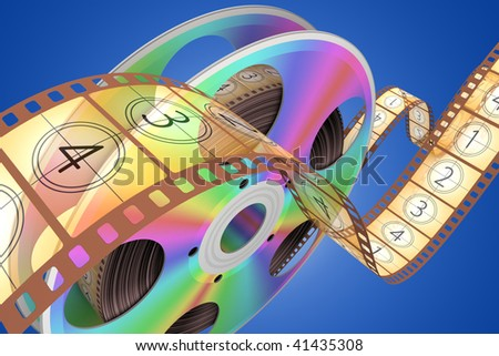 Video CD . Conceptual 3d rendered illustration