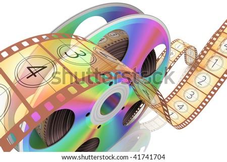 Video CD . Conceptual 3d rendered illustration
