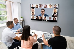 Video Conference Business Meeting Call In Office