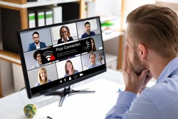 Video Conference Slow Internet Connection. Poor Signal Problem