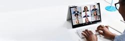 Video Conference Work Webinar Online At Home