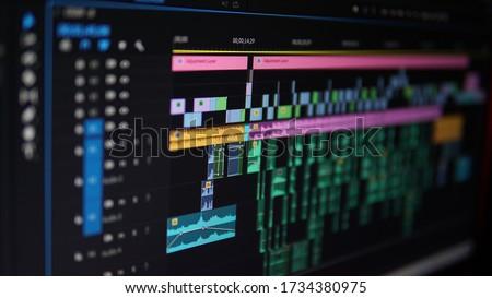 Video Editing process - Sound Correction Photo stock ©