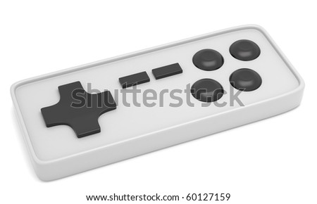 Video game controller isolated on white