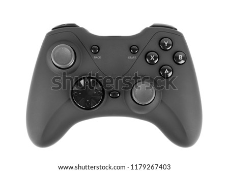 video game controller isolated on white background #1179267403