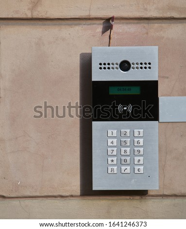Video intercom in the entry of a house Stockfoto ©