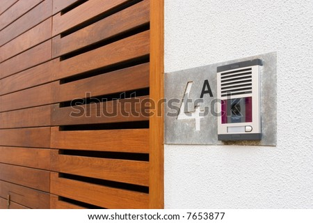Video Intercom in the entry of a house