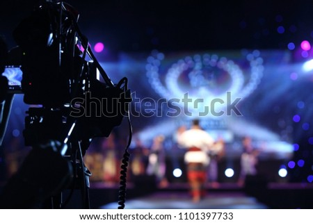 Video Production Camera social network live recording on Stage event which has interview session of contest, performance, concert or business seminar.  World Class Stage and ob switch team #1101397733