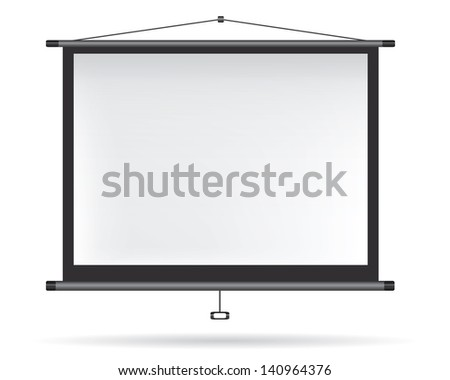 Video projector on white wall