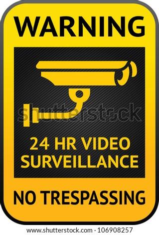 Video surveillance label