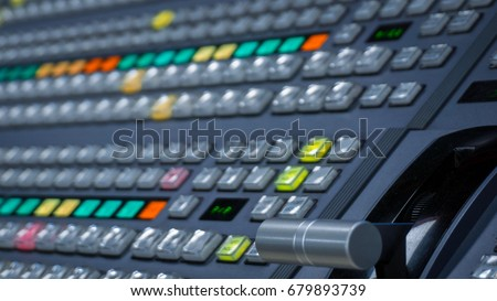 Video switcher with color buttons - No Hands Stok fotoğraf ©