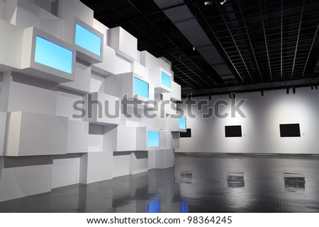 video wall and picture frame in a exhibition room