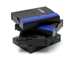 Videocassette standard miniDV isolated on a white background