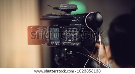 videographer close up , cameraman , movie