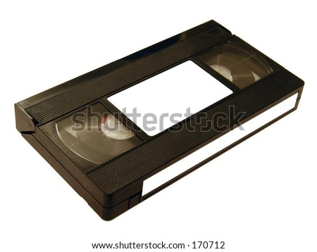 Videotape isolated - stock photo