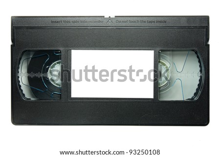 videotape on white background