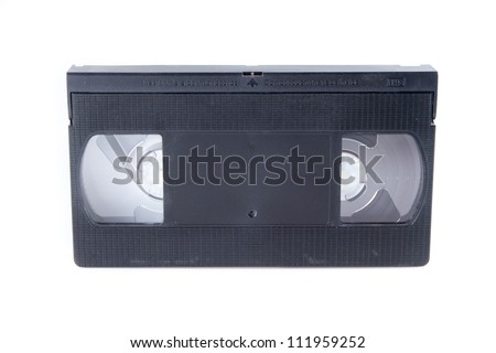 videotape on white background VHS isolated