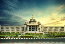 VIDHANA SOUDHA BANGALORE CITY, BEAUTIFUL VIEW