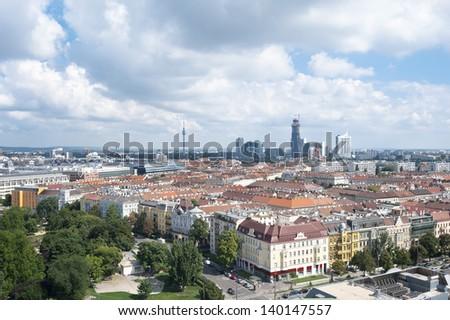 vienna  austria   aerial view...