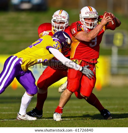 stock photo : VIENNA, AUSTRIA - MARCH 28: QB Vincent Gay (#9