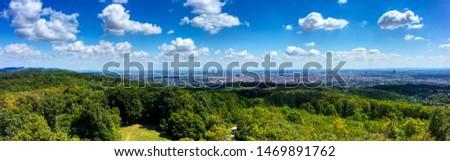 Vienna Austria Panorama blue sky clouds #1469891762