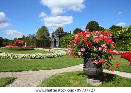 Vienna, Austria - Schoenbrunn Gardens, a UNESCO World Heritage Site.