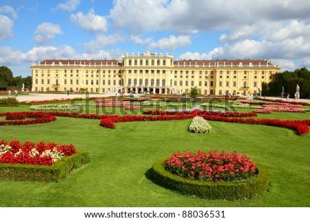Vienna, Austria - Schoenbrunn Palace, a UNESCO World Heritage Site.