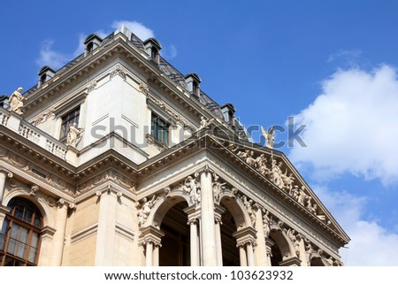 Vienna, Austria - University building. The Old Town is a UNESCO World Heritage Site.