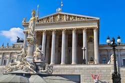 Vienna - Austrian Parliament Building (seen from Ringstrasse)