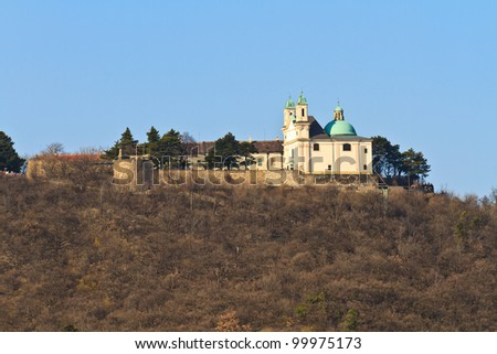 Vienna - Church on Leopoldsberg Mountain, Austria