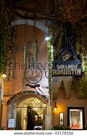 VIENNA - DECEMBER 20: Griechenbeisl, the Vienna's oldest inn on December 20, 2011. The Griechenbeisl is the most famous inn of Vienna.