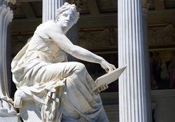 Vienna - detail from Athene fountain