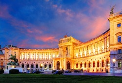 Vienna Hofburg Imperial Palace at night - Austria