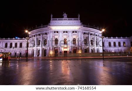 Vienna opera on night