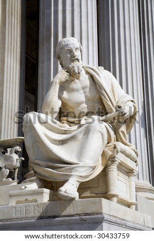 Vienna - philosopher statue for the Parliament - Herodotus